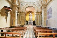 Bérgamo, Italia - 18 de agosto de 2017: interior del Duomo de la catedral de Bérgamo y del baptisterio Imagen de archivo