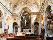 Bérgamo, Italia - 18 de agosto de 2017: interior del Duomo de la catedral de Bérgamo y del baptisterio Foto de archivo libre de regalías