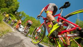 Bérgamo Italia 21 de mayo de 2017: viaje de ciclo 100 de Italia Foto de archivo
