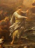 Bérgamo - Moses de la pintura que cruza el Mar Rojo Fotos de archivo libres de regalías