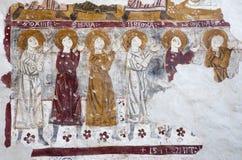 Bérgamo - ofprophets del fresco del bianco del pozzo del al de Micaela de la iglesia. Foto de archivo libre de regalías