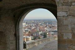 Bérgamo - St Jackob Gate imagenes de archivo