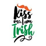 Béseme que soy irlandés stock de ilustración