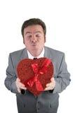 Béseme tarjeta del día de San Valentín fotografía de archivo