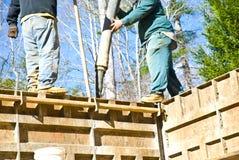Béton/murs de pompage/construction photos libres de droits