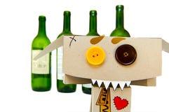 Bêbedo e louco imagem de stock