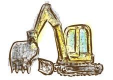 bêcheur illustration de vecteur