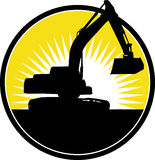 Bêcheur mécanique de construction illustration stock