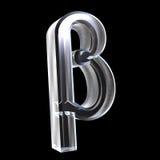 Bêta symbole en glace (3d) Image libre de droits