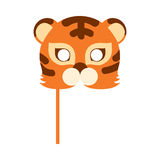 Bête de Tiger Cat Carnival Mask Striped Orange Brown illustration libre de droits