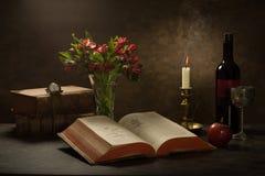 a Bíblia da leitura Imagens de Stock