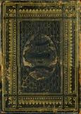 A Bíblia de couro decorativa do vintage imagem de stock