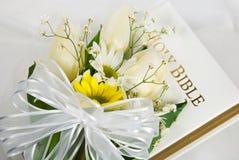 A Bíblia do casamento Imagens de Stock Royalty Free