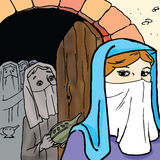 A Bíblia - a parábola das dez virgens Imagem de Stock Royalty Free
