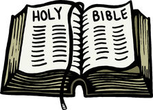 A Bíblia Sagrada ilustração stock