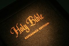 A Bíblia santamente 1 Imagem de Stock Royalty Free