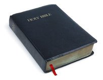 A Bíblia santamente no branco Fotografia de Stock Royalty Free