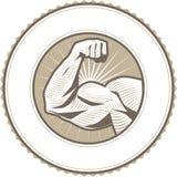 Bíceps Flex Label Imagen de archivo