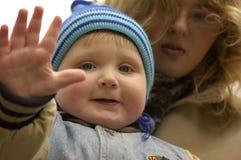 Bоу waving Royalty Free Stock Images