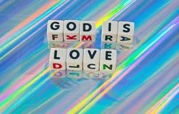 Bóg jest miłością Zdjęcia Royalty Free