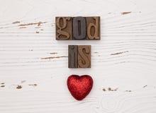 Bóg kocha ciebie Zdjęcia Royalty Free