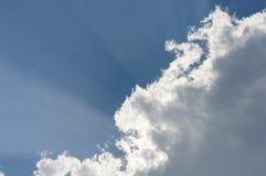 Bóg lekcy promienie ciskający słońcem Zdjęcia Stock