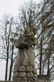Bóg matka z dzieckiem Pidhirtsi Lviv obraz stock