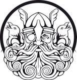 Bóg Odin i jego kruki Zdjęcia Royalty Free