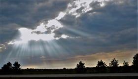 Bóg promienie Fotografia Stock