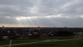 Bóg promienie podczas chmurnego dnia Obrazy Royalty Free
