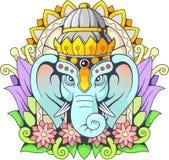 Bóg słoń Ganesha, ilustracja Obraz Royalty Free