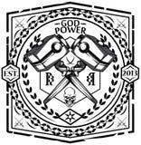 Bóg władza royalty ilustracja