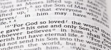 Bóg Więc Kochający słowo Że Dać Jego Jedynego syna obraz royalty free
