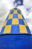Bóia azul & amarela Fotografia de Stock