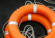 Bóia de vida no barco Imagens de Stock Royalty Free