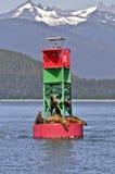 Bóia e selos em Alaska Imagem de Stock