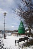 Um dia de inverno no Leigh-em-Mar, Essex, Inglaterra Fotografia de Stock