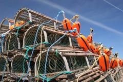 Bóias & armadilhas da lagosta Imagem de Stock Royalty Free