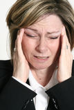 ból głowy. obraz royalty free