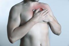 ból klatki piersiowej Fotografia Royalty Free