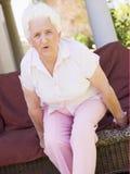ból pleców kobieta Zdjęcia Royalty Free