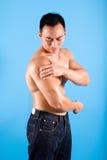 ból shoulde dyskomfort ludzi cierpienie zdjęcie stock