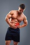 Ból w lewej stronie brzuch Zdjęcie Stock
