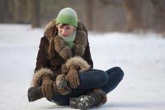 bólowa drogowa kobieta Fotografia Stock