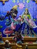 Bóstwa w Sri Krishna Balaram Mandir świątyni Vrindavan Zdjęcia Stock