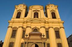 Bóveda católica en el cuadrado cenral de Timisoara Fotos de archivo libres de regalías