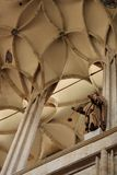 Bóveda a cielo abierto de la catedral en Cesky Stenberg imagen de archivo