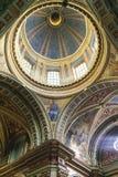 Bóveda de la basílica Nuestra Senora de Merced en la capital de Córdoba, la Argentina Imagen de archivo libre de regalías