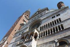 Bóveda de la basílica Santa Maria Assunta en Crémona Italia imagen de archivo libre de regalías