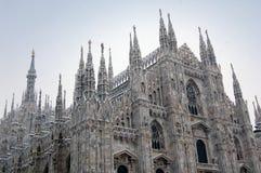 Bóveda de la catedral de Milano en invierno Foto de archivo